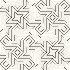 Vector seamless lattice pattern. Modern stylish abstract texture. Repeating geometric tiles from rhombus and star shapes.