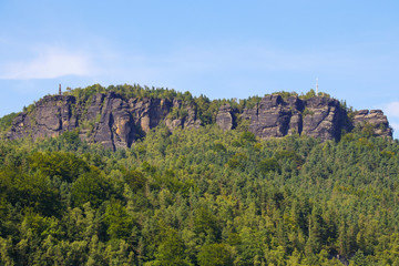 Mountain Lilienstein, Saxon Switzerland - Germany