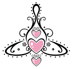 Keltisches Symbol, Mutter mit drei Kindern. Muttertag.