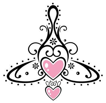 Keltisches Symbol, Mutter mit zwei Kindern. Muttertag.
