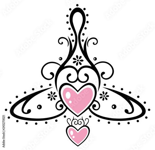 Keltisches Symbol Mutter Mit Zwei Kindern Muttertag Stock Image