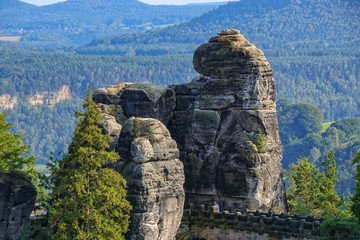Saxon Switzerland, Elbe Sandstone Mountains, rock formation, Germany