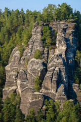 Saxon Switzerland, Elbe Sandstone Mountains, rock formation,  Germany