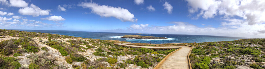 Foto op Aluminium Kangoeroe Admirals Arch lookout panoramic coastline view, Flinders Chase National Park, Kangaroo Island