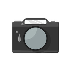 Photo icon in flat style on a white background