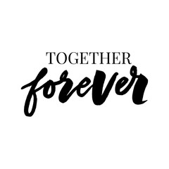 Together forever typography motivational positive slogan with daisy sunflower skecth drawing modern Fashion Slogan for T-shirt and apparels graphic vector Print.