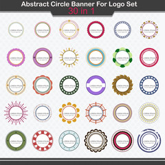 Abstract Circle Banner For Logo Set - Vector