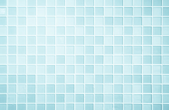 White or Blue ceramic wall and floor tiles abstract background.