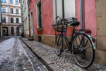 old bicycle on the street