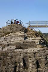 Saxon Switzerland, Elbe Sandstone Mountains, rock formation, tourists, Germany
