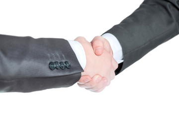 close up. handshake business people the concept of cooperation