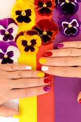 Wall Mural - Цветочный маникюр.