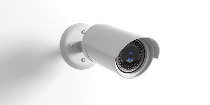 Security Camera CCTV isolated on white background. 3d illustration