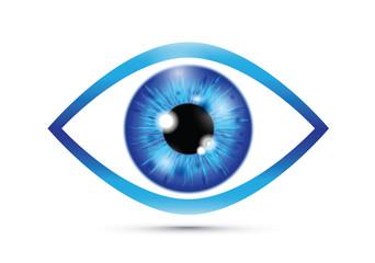 blue Realistic eyeball