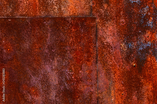 Rusted Metal Plate Close Up