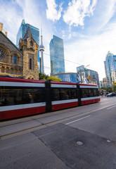 Street activity in Toronto downton