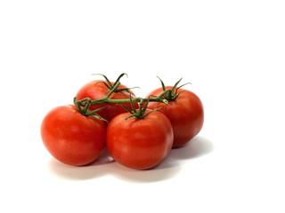0629 tomato, shrub tomatoes with stems, small, white background