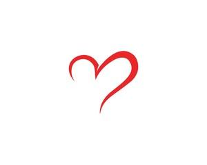 Love Logo Vector icon illustration designTemplate