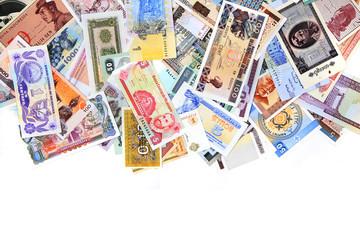 money different banknotes backround