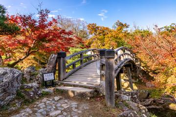 魚躍沼の高橋と紅葉