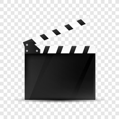 Clapper board . Movie clapper isolated. Vector