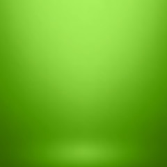 Empty green studio room background, used as background for display your products