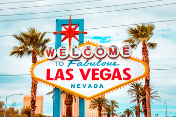 Fotorolgordijn Las Vegas Welcome to Fabulous Las Vegas sign, Las Vegas Strip, Nevada, USA