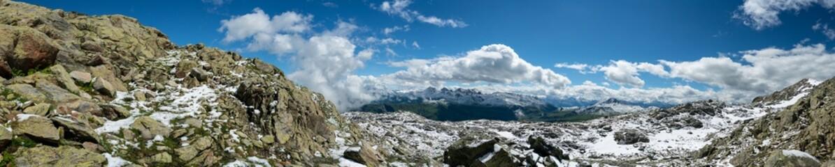 Panorama Landschaft mit Alpen Gebirge