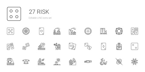 risk icons set