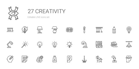 creativity icons set