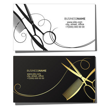 Hairdresser beauty salon business card