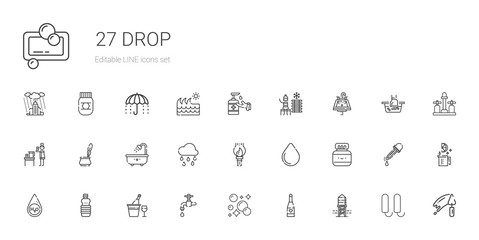 drop icons set