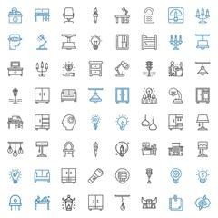 lamp icons set