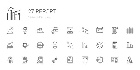 report icons set