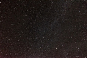 Night starry sky. Many stars.