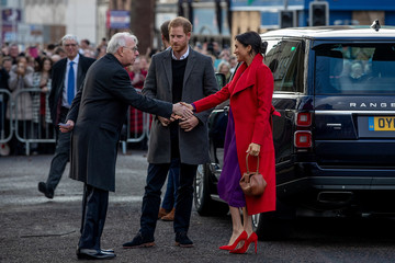 Britain's Prince Harry and Meghan, Duchess of Sussex visit Birkenhead