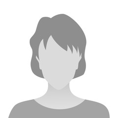 Person gray photo placeholder woman