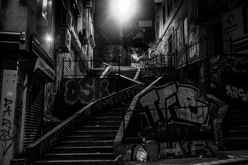 Treppe in Istanbul nachts
