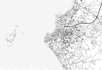 Area map of Pattaya, Thailand.