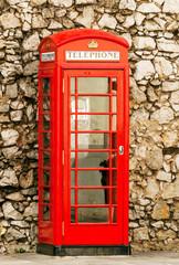 Telephone box in the United Kingdom
