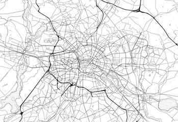 Area map of Berlin, Germany