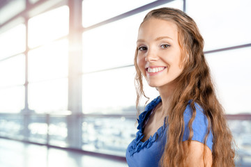 happy smiling beautiful young woman
