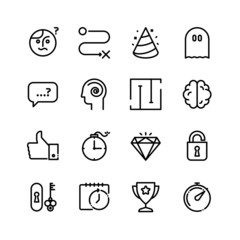 Quest and Escape room icons