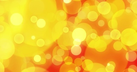 abstract background with animated glowing gold and red bokeh loop, alpha