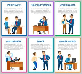 Interview Candidate Talking to Director Posters