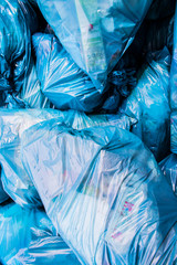 Plastic place Blue Recycling Bags