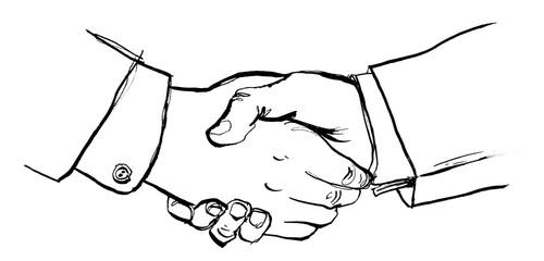 Business Partner geben sich Handschlag