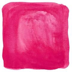 Pinke Wasserfarbe als quadratischer Hintergrund