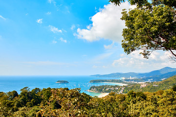 View on patong beach, phuket in thailand