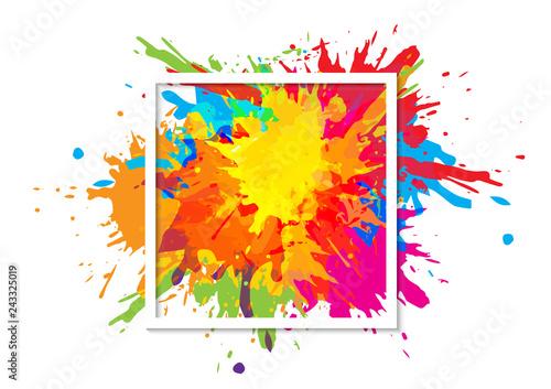abstract splatter art paint texture background design